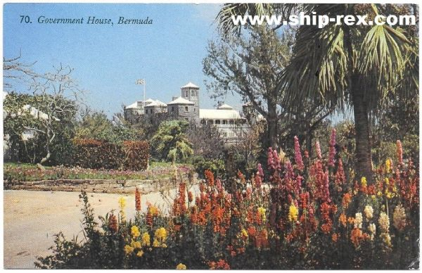Government House, Bermuda - postcard